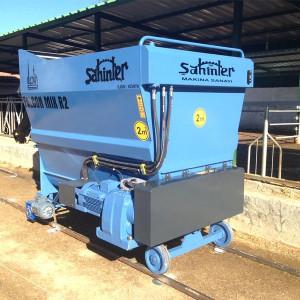 Excellent  Rail Feed Mixer Wagon Sahinler Animal Cattle Feeder 5-6-8-10-12 m3