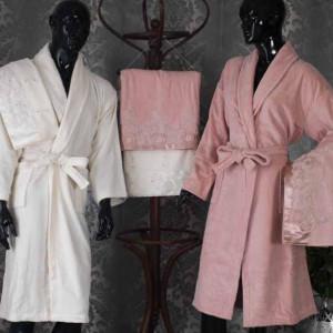Homestar Luxury Quality Velvet Bathrobe And Towel Sets