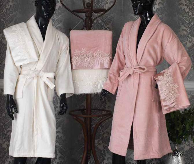 Apparel Homestar Luxury Quality Velvet Bathrobe And Towel Sets