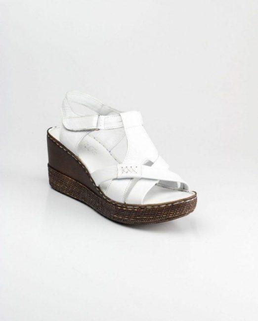 Levossa genuine leather filled heel women's sandal