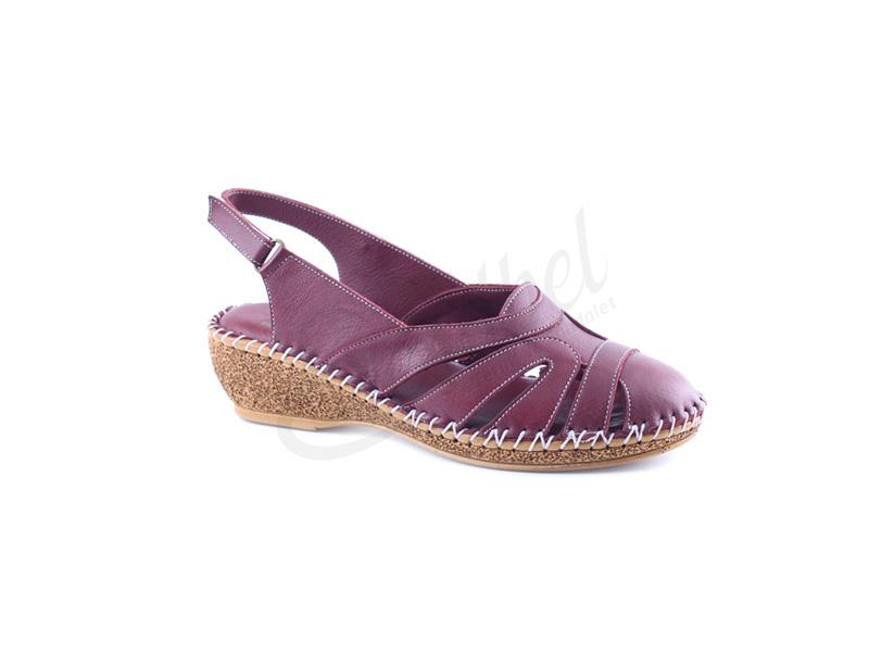 Yeşilbel shoes real leather colorful sandals