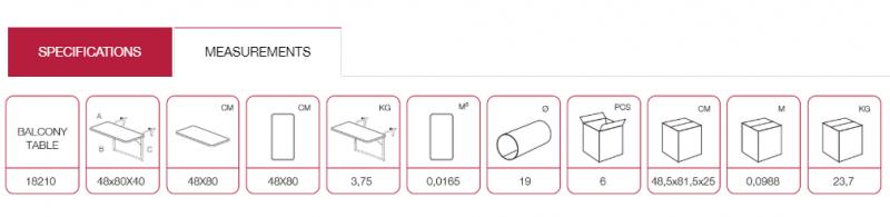 Home appliance balcony table