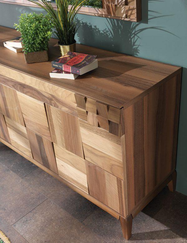 Berrak furniture awarded walnut dining room