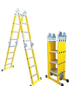 Sm saraylı fiberglass and telescopic folding step ladder