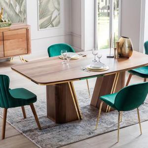 Ayhan Gold Dining Room Furniture Set