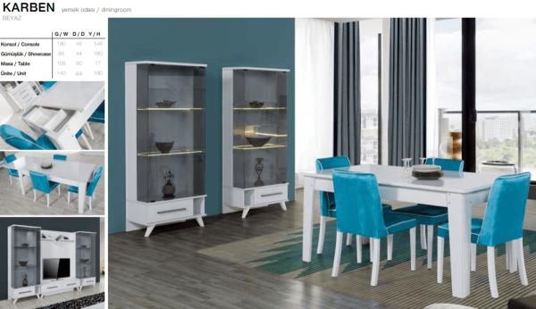Davenza home furniture karben white diningroom