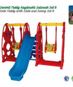 Kingkids king garden indoor outdoor cute teddy slide swing kit toys set for kids girl boy st9060b