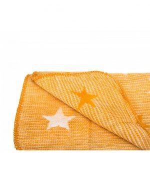 Irya textile star baby blanket orange