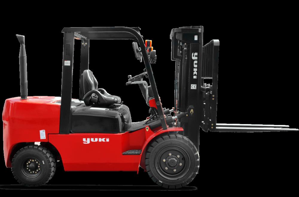 Forklifts Yuki 2 Ton Lifting Capacity Diesel H Triplex Forklift CPCD20-45-H