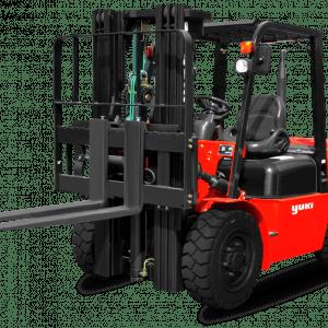 Yuki Powerful Diesel Forklift 2 Ton Lifting Capacity H Triplex CPCD20-45-H
