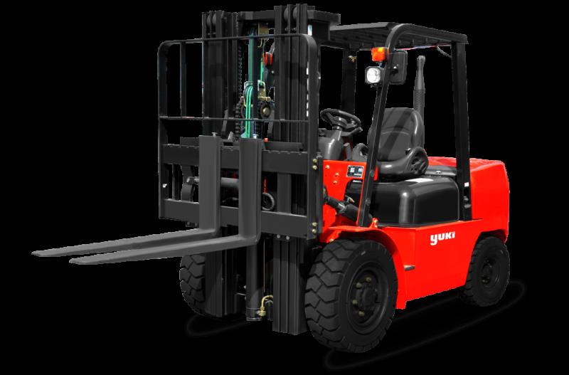 Yuki 3.5 ton Diesel Forklift capacity diesel h triplex forklift cpcd35-45-h