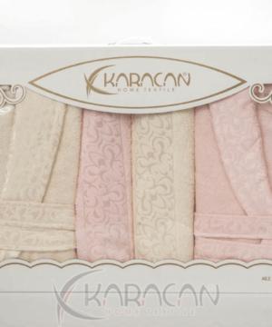 Karacan home textile aybuke family bathrobe set