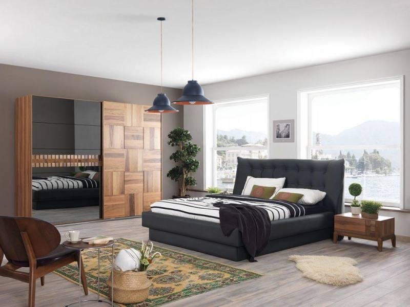 Berrak Furniture Awarded Walnut Bedroom Sets King Queen Full Vanity Dresses Bed Closet