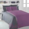 Patik home ranforce purple binding linens set