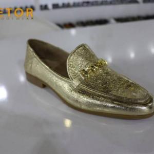 Etor Genuine Leather Mens Dress Shoes Gold