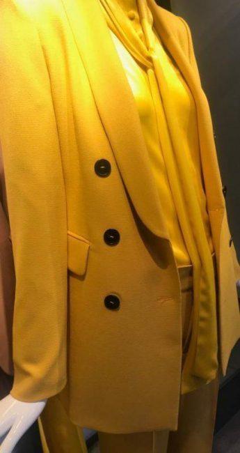 Fashion by didem unlu satin crepe suit for women