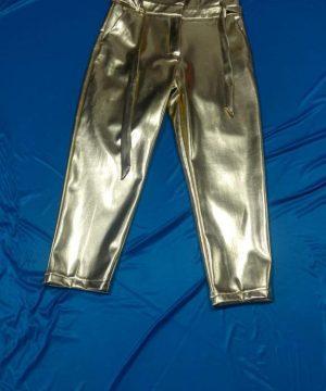 Boys Pants Fashion by Didem Unlu Glossy Fabric Lycra Leather Trouser