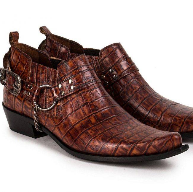 Etor cowboy western style genuine leather men boots