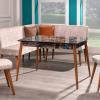 Seferay kayra corner kitchen table chairs set