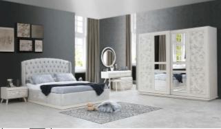 Fidanoglu Felix Bedroom Furniture Sets King Queen Full Vanity Dresses Bed Closet 11