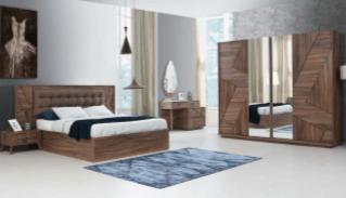 Fidanoglu Felix Bedroom Furniture Sets King Queen Full Vanity Dresses Bed Closet 111