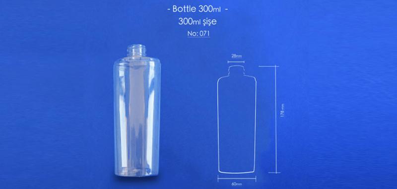 Tozbey plastic 300 ml pet bottles code 071