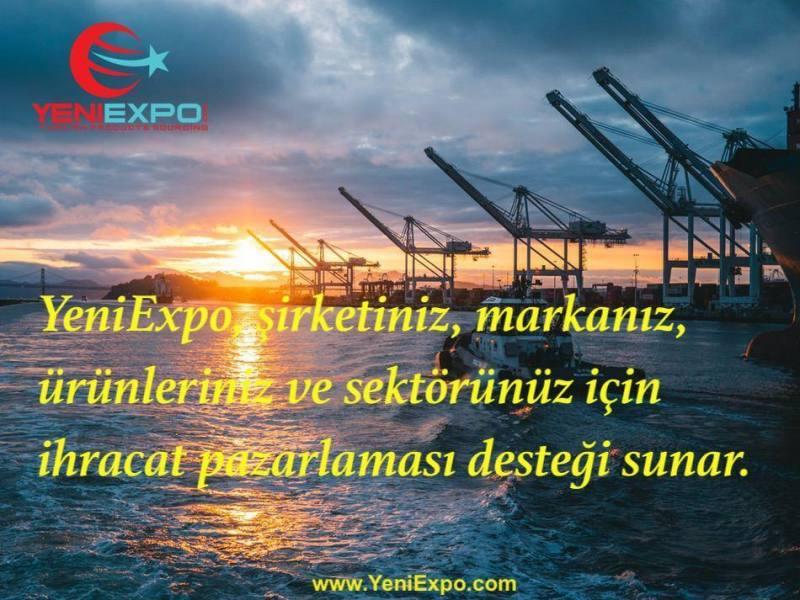 Yeniexpo, şirketiniz, markanız, ürünleriniz ve sektörünüz için ihracat pazarlaması desteği sunar.