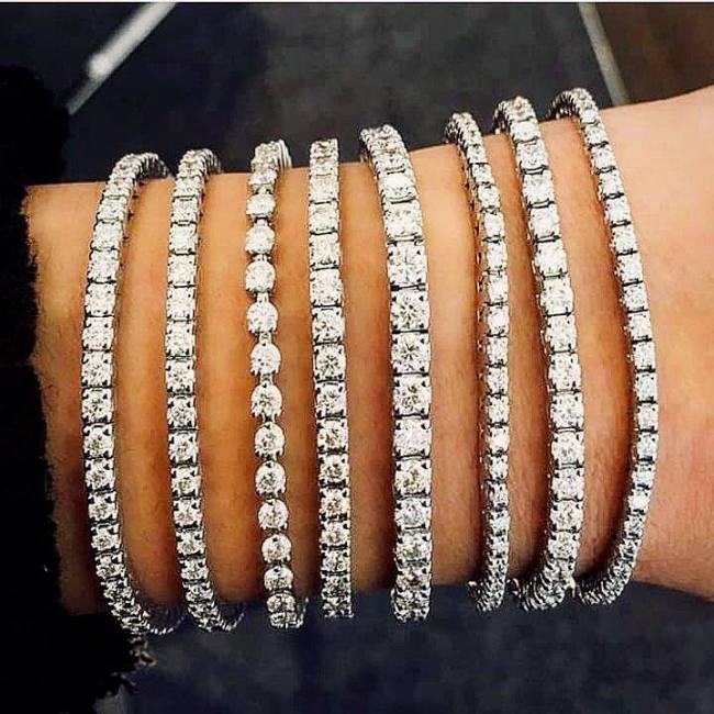 Golden eye jewelry women fine diamond bracelet collection jewellery on gold or platinum