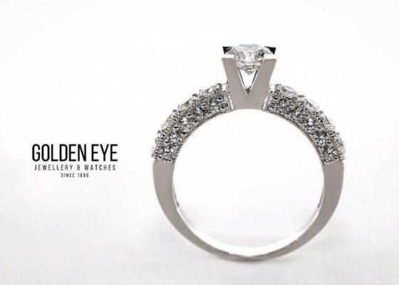 Golden eye jewelry women fine diamond engagement wedding ring jewellery on gold or platinum alanya