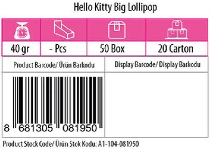 Lolliboni candy toys hello kitty big lollipop