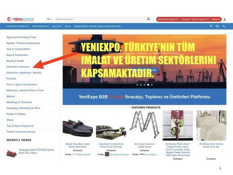 YeniExpo, Türkiye'nin tüm imalat ve üretim sektörlerini kapsamaktadır.