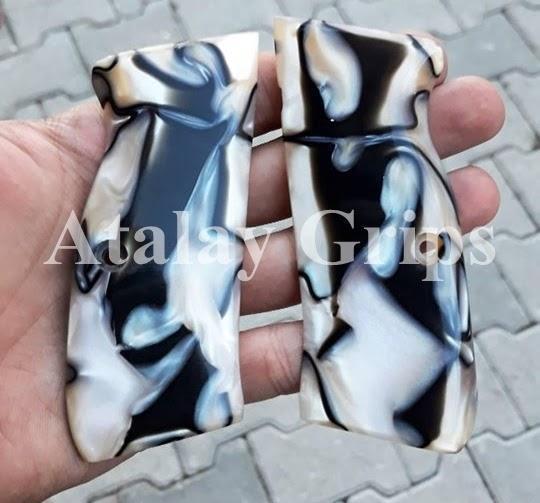 Atalay browning walnut hp custom hand gun pistol handgun grips