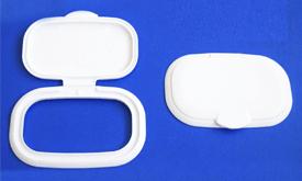 Tozey plastik oval shape wet wipe container caps lids