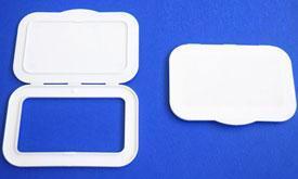 Tozey plastik large size wet wipe pp plastic container caps lids