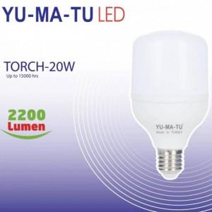 Yumatu 20W E27 White Led Light Bulb 2200 Lumens