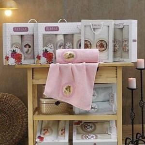 Berberler Textile Berra 100% Turkish Cotton Bath Hand Face 2 Towels Towel Set Collection