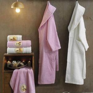 Berberler Rebeka Men Women 100% Turkish Cotton Bath Robe Bathrobe Bornoz and Towel Set Paris