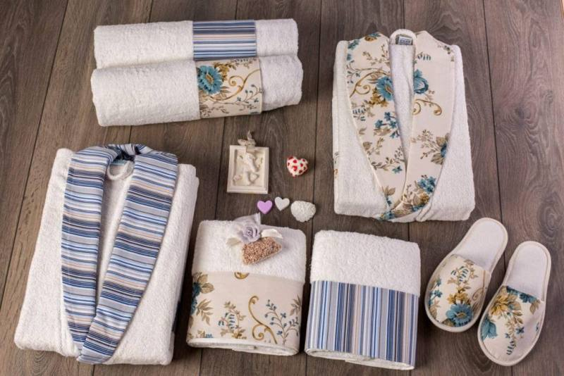 Berberler rebeka mens women bathrobe bornoz and towel set turkish cotton designer