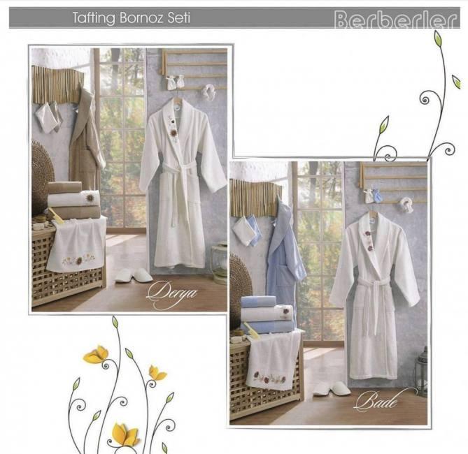 Berberler Rebeka Men Women 100 Turkish Cotton Bath Robe
