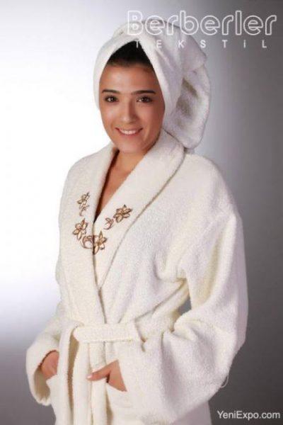 Berberler rebeka 100% turkish cotton bath robe bathrobe bornoz  men women unisex towel set