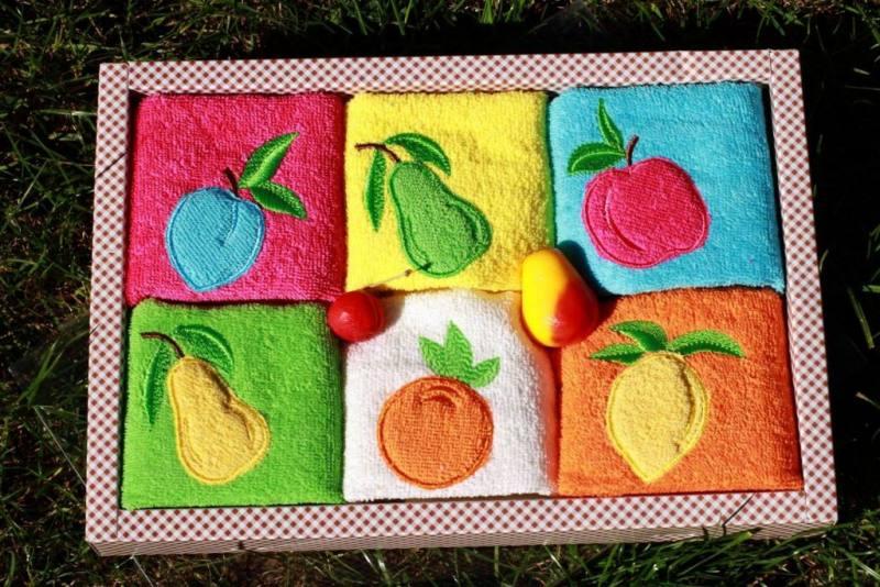 Berberler berra bathroom decorative hand towels guest towel turkish cotton pack of 6 strawberry 30 x 50 cm