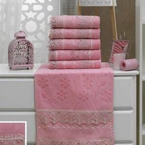 Berberler Berra 100% Turkish Cotton Patterned Laced Bath Hand Face Towels Towel Set Collection Home Textile