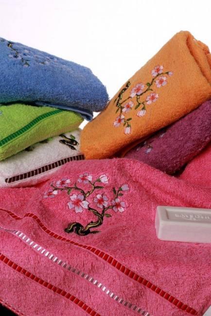 Berberler berra bathroom decorative hand towels embroidered towel turkish cotton pack of 6 – 30 x 50 cm aqua