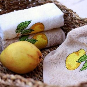 Berberler Berra Bathroom Decorative Hand Towels  Guest Towel Turkish Cotton Pack of 6 Fruit