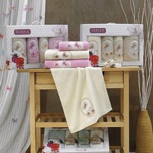 Berberler Textile Berra 100% Turkish Cotton Bath Hand Face 4 Towels Towel Set Collection