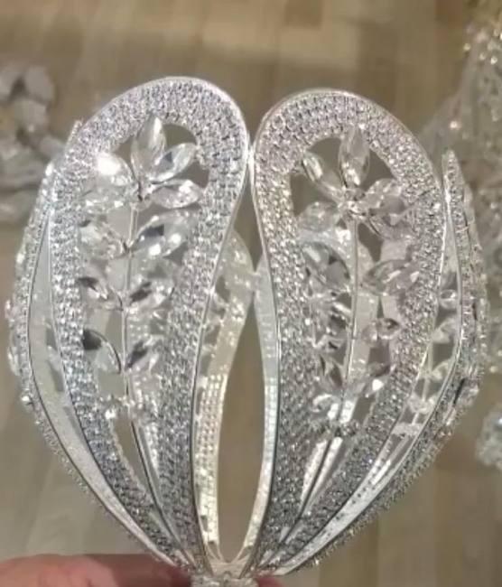 Maya moda stunning metallic bridal bouquet holders wholesale
