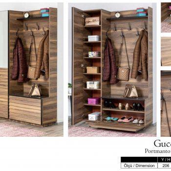 Godina armani 3515 modern hall stand home furniture wholesale export turkey