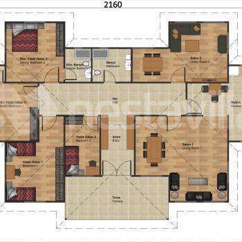 Prefab steel small home cabin nvilla magnolia 88 m2 (copy)