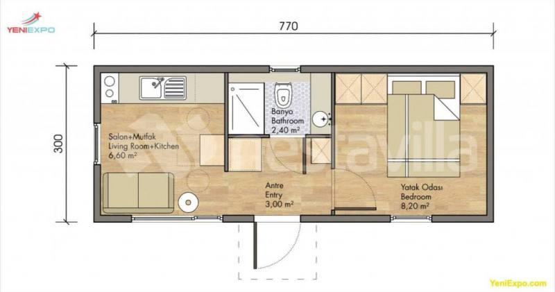 Modular prefab house Nestavilla violet