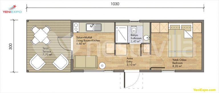 Modular prefab house nvilla sukule